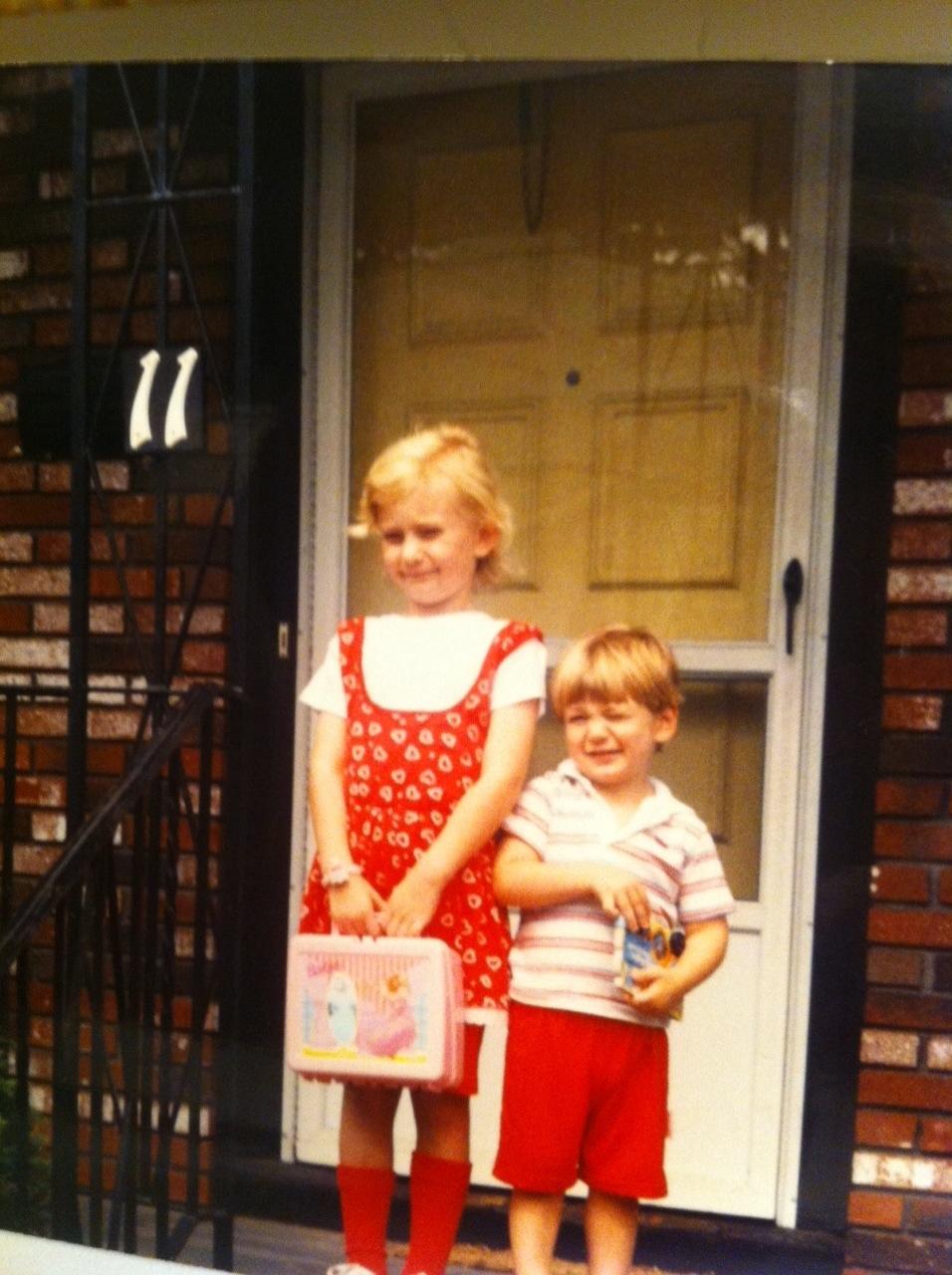 Jen's first day of kindergarten